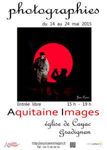 Affiche de l'exposition photographique  Aquitaine Images